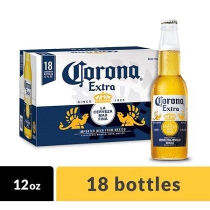Corona Extra Bottle 12oz 18 Pack beer